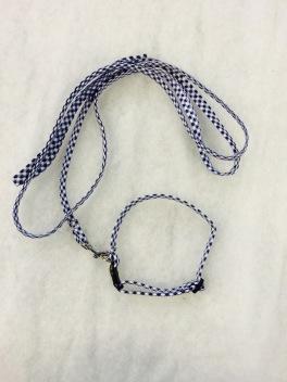 Koppelset i blå/vit. 9mm
