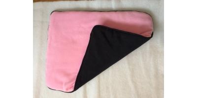Underlägg i rosa och svart